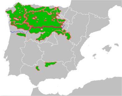 Mapa lobo ibérico
