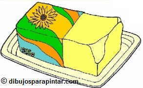 Dibujo de margarina vegetal