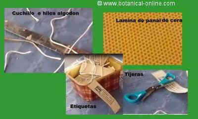 materiales para confeccionar una vela