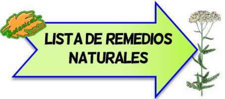 listado plantas medicinales