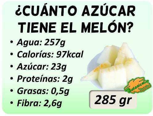composicion nutricional melon azucar diabetes racion
