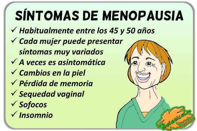 sintomas menopausia natural