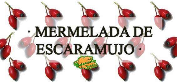 mermelada de escaramujo receta etiqueta