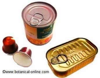 Metales pesados en los alimentos, aluminio, estaño