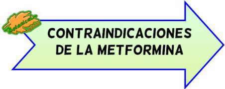 contraindicaciones de la metformina