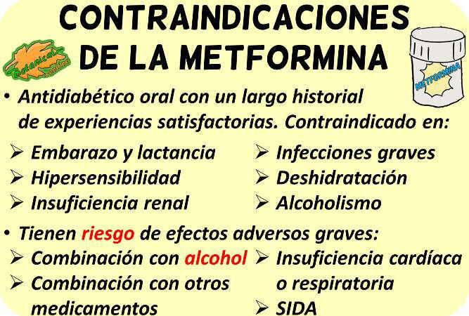 metformina contraindicaciones