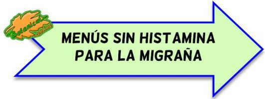 ejemplos menús sin histamina para migraña