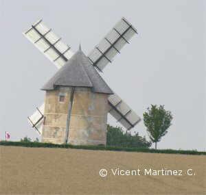 molino de viento para harina