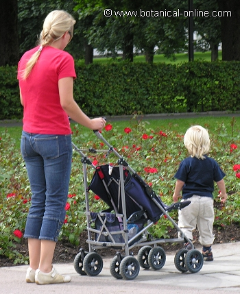 Mujer con niño pequeño