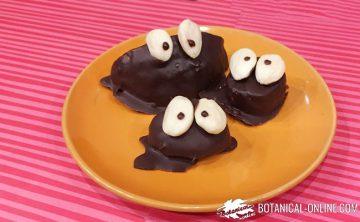 muñecos de chocolate postre para niños y fiestas infantiles