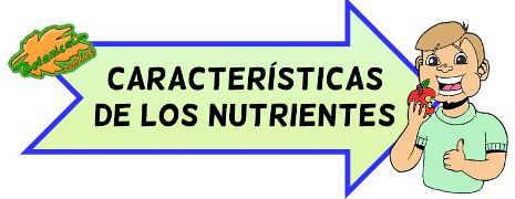nutrientes para niños de escuela