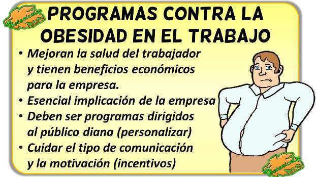 programas de salud contra la obesidad en las empresas laboral