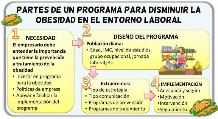 diseño programa contra la obesidad en el entorno laboral empresas
