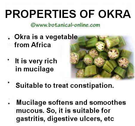 medicinal properties of okra