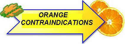 orange contraindications