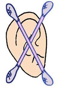bastones en las orejas no