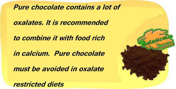 how to balance the content of cocoa oxalates.