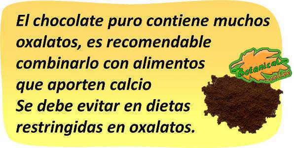eliminar oxalatos del cacao