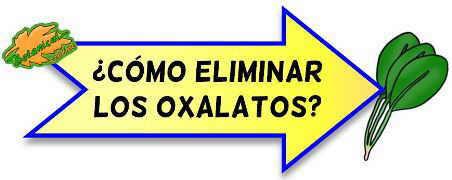elimiinar oxalatos