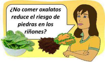 no comer alimentos con oxalatos elimina piedras de acido oxalico oxalato calcico orina