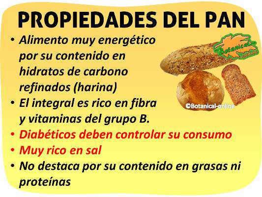 propiedades nutricionales y beneficios del pan, vitaminas y minerales