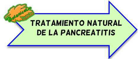 pancreatitis tratamiento natural