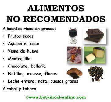 Alimentos desaconsejados para la dieta pancreatitis