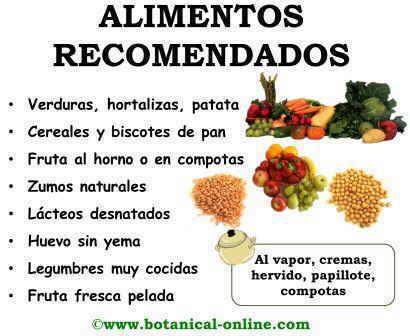 Alimentos recomendados en la dieta para la pancreatitis