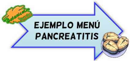 menu pancreatitis
