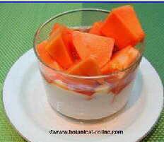 Zumo de papaya para los barros