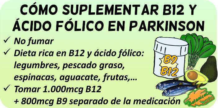 parkinson vitaminas como tomar b9 b12 folico
