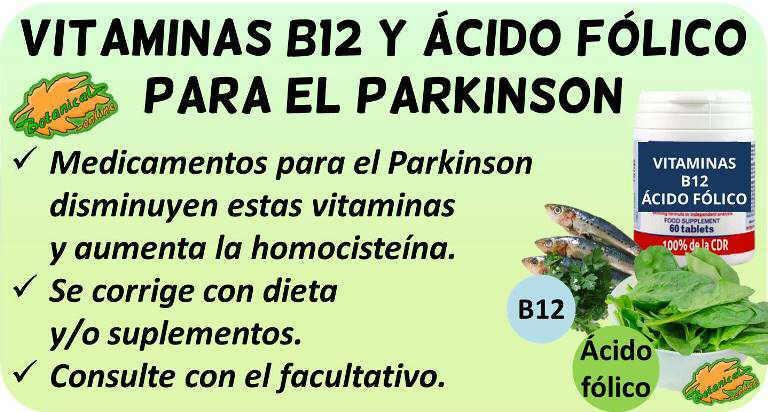 parkinson suplementos vitamina b12 acido folico