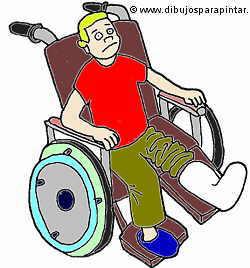 persona con el pie roto