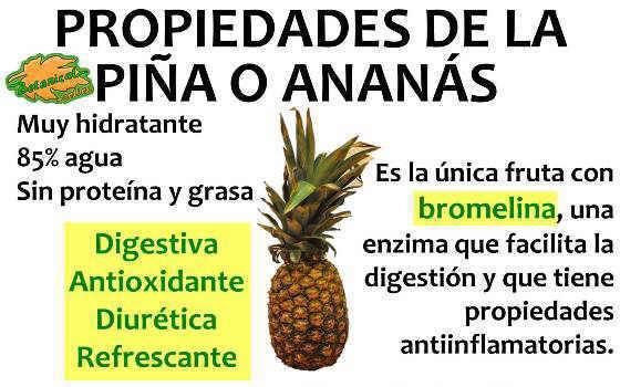 propiedades y beneficios de la piña o ananas