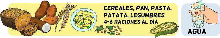 piramide alimenticia para niños grupo carbohidratos