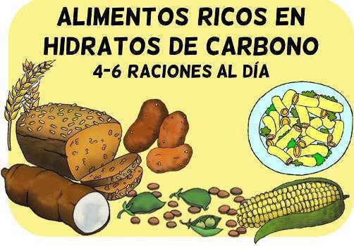 piramide alimenticia para niños grupo alimentos con carbohidratos