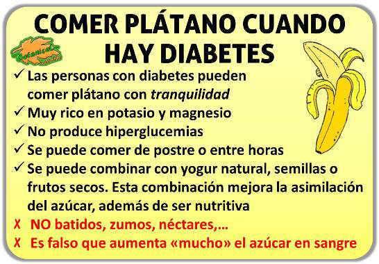Plátano para la diabetes