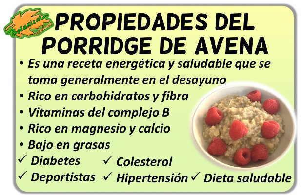 propiedades del porridge de avena y sus beneficios para el colesterol, deportistas y dieta saludable