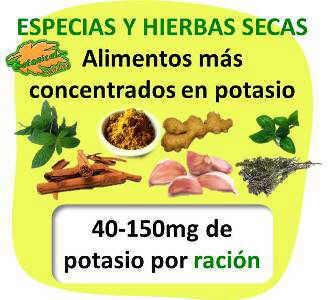 Dietas ricas en potasio