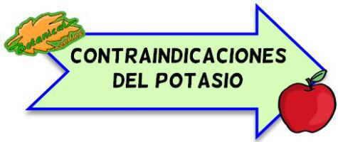 contraindicaciones del potasio