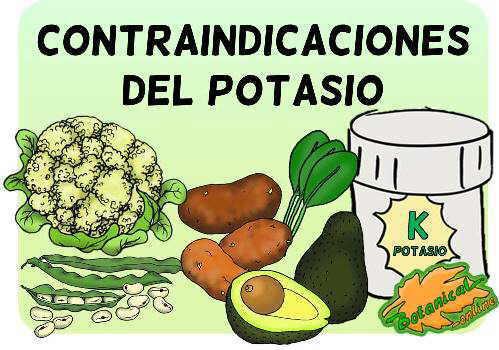 contraindicaciones del mineral potasio