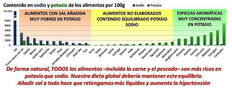Equilibrio entre la sal y el potasio de la dieta - Alimentos en potasio ...