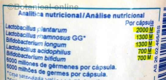 etiqueta suplemento probiotico capsulas comprimidos nutergia