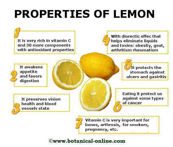 healing properties of lemon.