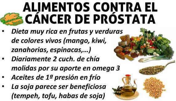 qué alimentación para la próstata