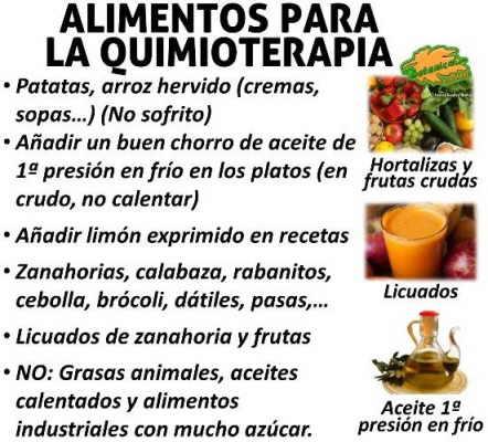 Alimentos adecuados para la quimioterapia - Alimentos contra el cancer de mama ...