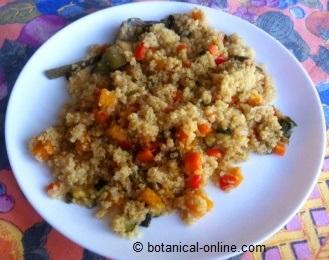 quinoa con calabaza y comino