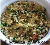 quinoa al pesto de almendras