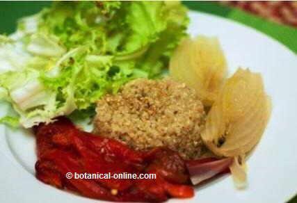 Quinoa con verdura asada
