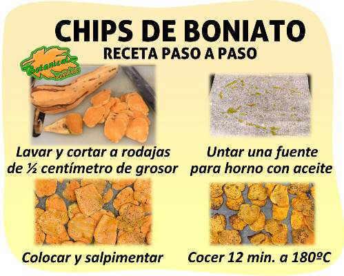 receta facil paso a paso chips de boniato camote patata dulce al horno